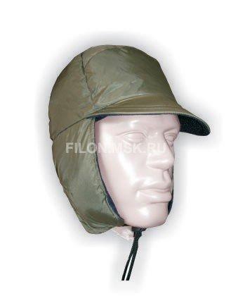 Легкая теплая зимняя шапка с козырьком. внутренний слой - Polyester 100.